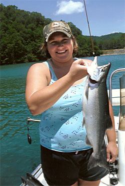 Fish For Kokanee Salmon At Lake Nantahala