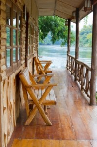 lakeside cabin chairs - NC mountains